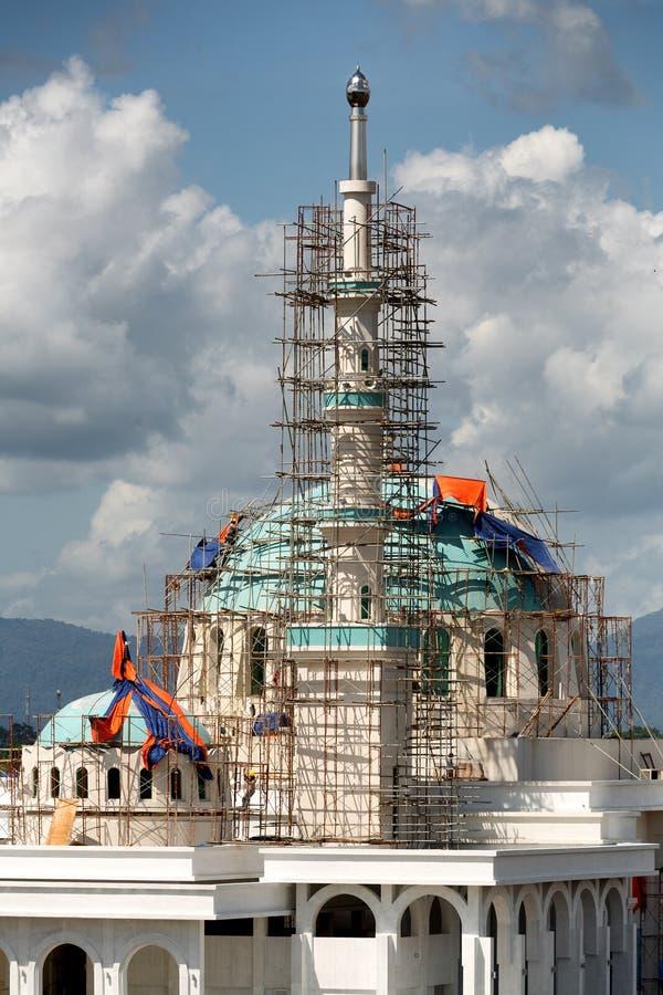 Masjid Bandar moské under konstruktion arkivfoton