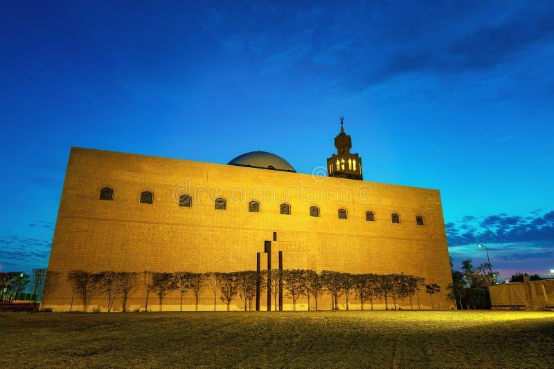 Masjid bonito no Dammam-saudita Arábia imagem de stock