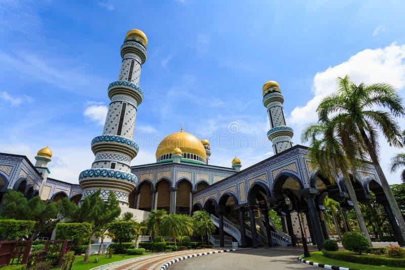 Masjid Brunei. Jameasr Hassanil Bolkiah Mosque, Bandar Seri Begawan, Brunei, Southeast Asia royalty free stock photo