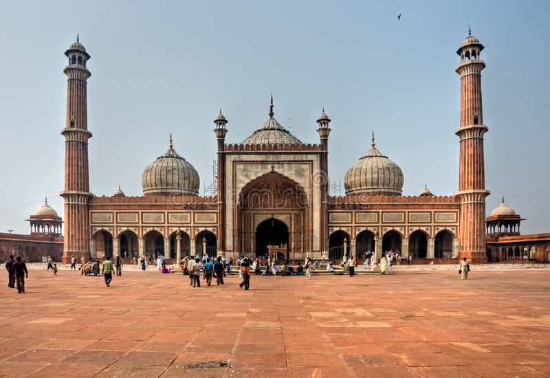 masjid de Delhi Inde jama vieux photo libre de droits