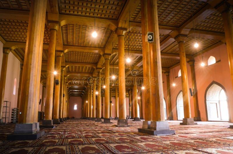 Masjid di Jamia a Srinagar, India fotografia stock