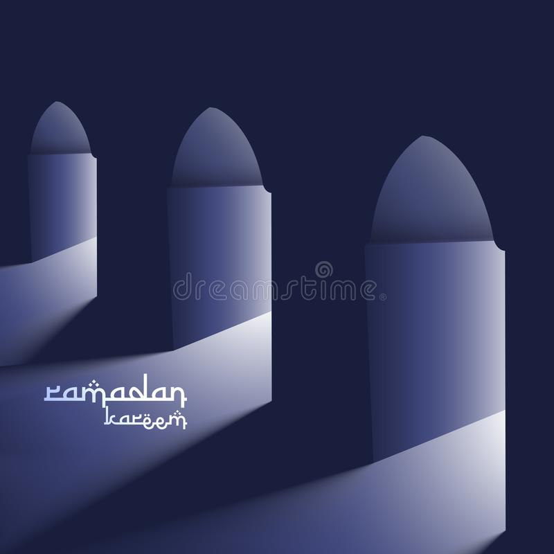 Free Masjid Doors With Holy Light Ramadan Background Stock Images - 101488904