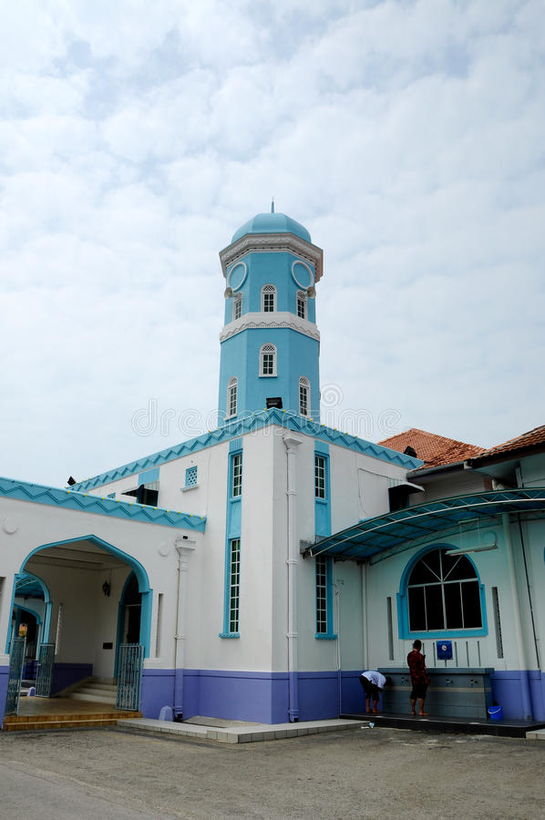 Masjid Jamek达托Bentara Luar在巴株巴辖,柔佛州,马来西亚 库存图片