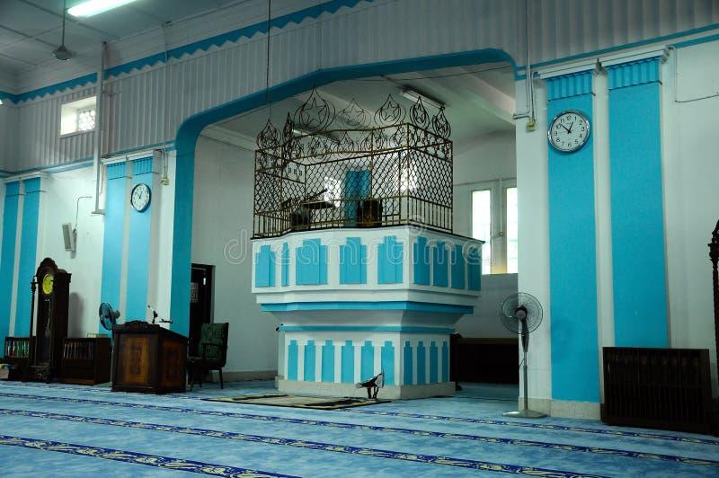 Masjid Jamek达托Bentara Luar敏拜楼在巴株巴辖,柔佛州,马来西亚 库存图片