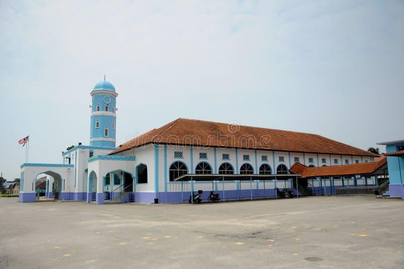 Masjid Jamek Dato Bentara Luar i Batu Pahat, Johor, Malaysia royaltyfri bild