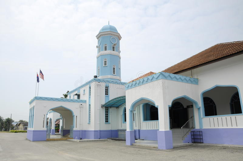 Masjid Jamek Dato Bentara Luar i Batu Pahat, Johor, Malaysia royaltyfri fotografi