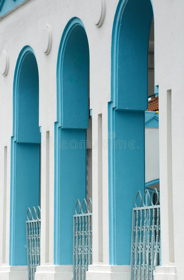 Masjid Jamek Dato Bentara Luar i Batu Pahat, Johor, Malaysia royaltyfri foto
