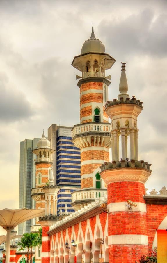 Masjid Jamek, en av de äldsta moskéerna i Kuala Lumpur, Malaysia arkivbild