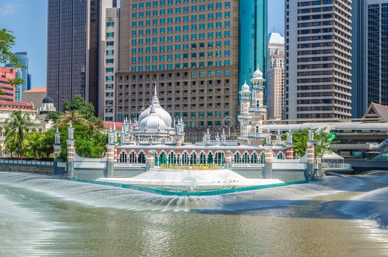 Masjid Jamek meczet który lokalizuje w sercu Kuala Lumpur miasta fotografia royalty free