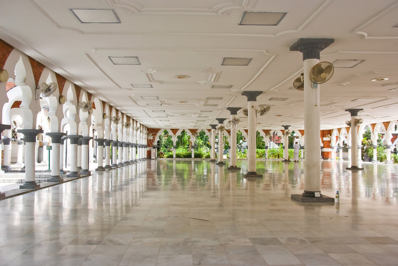 Masjid jamek mosque, kuala lumpur royalty free stock image