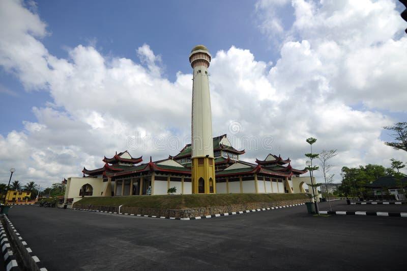 Masjid Jubli Perak Sultan Ismail Petra a K A Masjid Peking royaltyfri foto