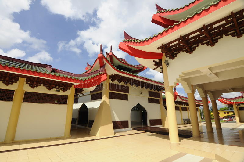 Masjid Jubli Perak Sultan Ismail Petra a K A Masjid Peking arkivbild