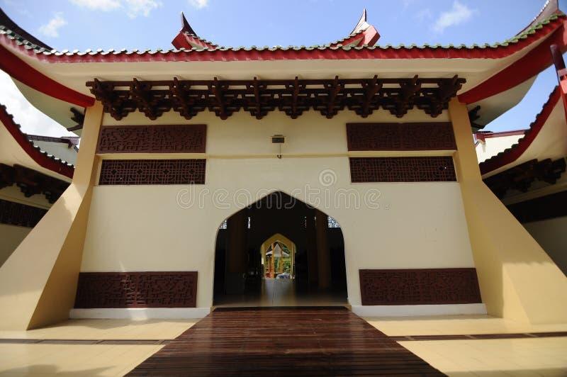 Masjid Jubli Perak Sultan Ismail Petra a K A Masjid Peking royaltyfri fotografi