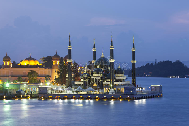 Masjid Kristal在瓜拉Terrengganu,马来西亚 库存图片