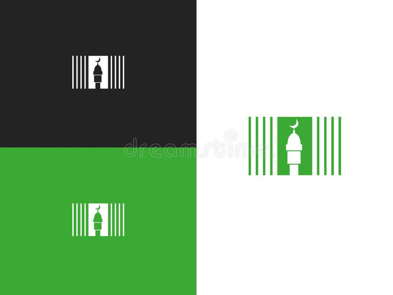 Masjid logo template design. Muslim faith symbol royalty free illustration