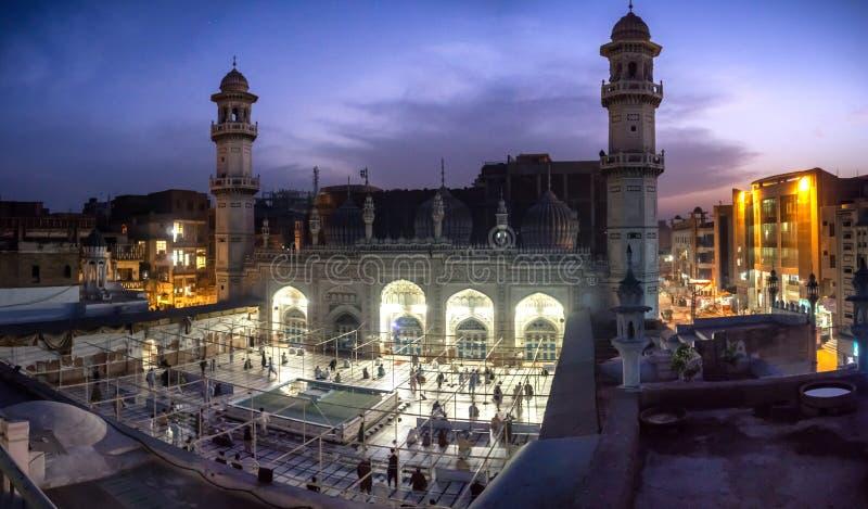 Masjid Mahabat可汗白沙瓦巴基斯坦 免版税库存照片