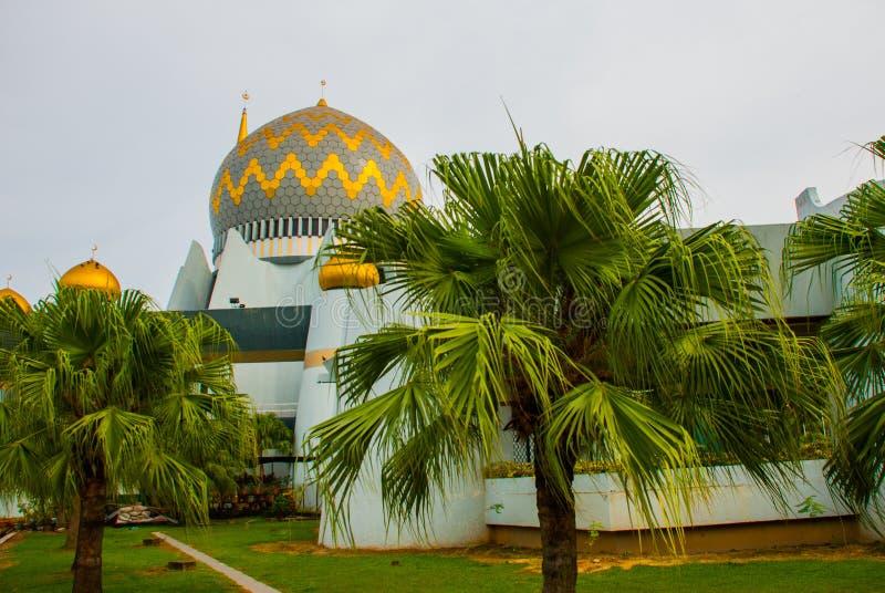 Masjid Negeri Sabah stanu meczet Sabah, Malezja kinabalu kota mt zdjęcie stock