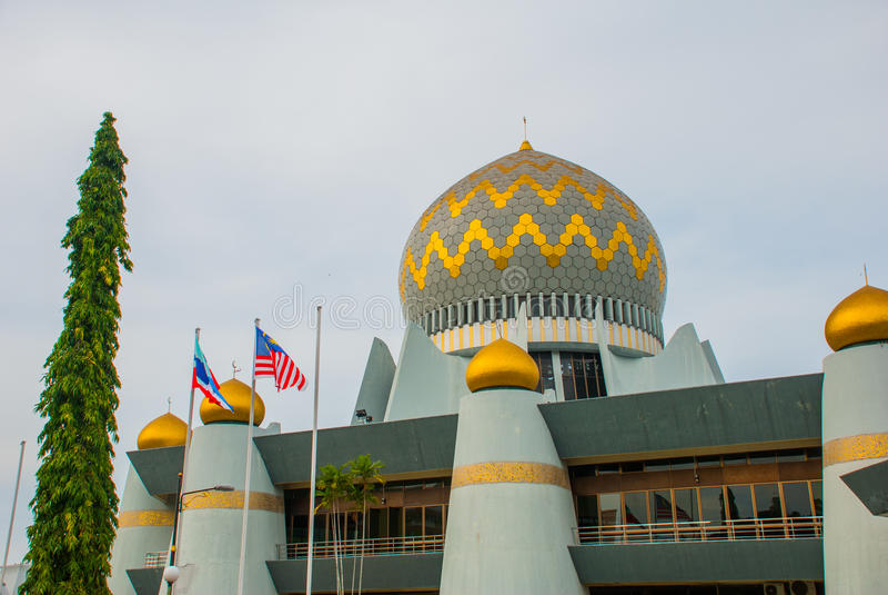 Masjid Negeri Sabah stanu meczet Sabah, Malezja kinabalu kota mt obrazy royalty free