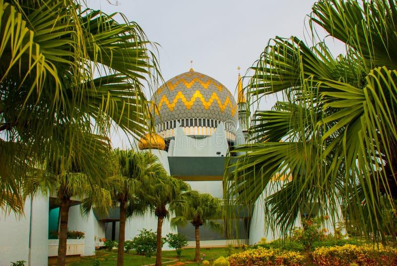 Masjid Negeri Sabah stanu meczet Sabah, Malezja kinabalu kota mt zdjęcie royalty free