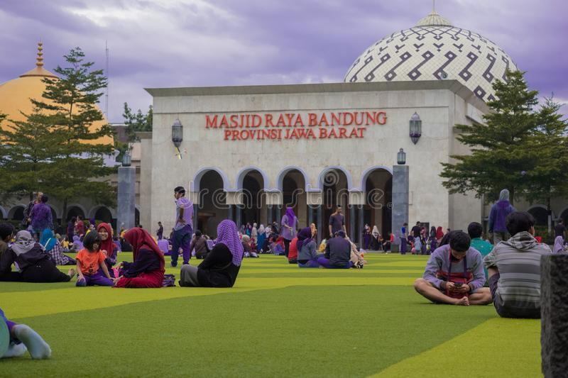 Masjid Raya Bandung Jabar. Masjid Raya Bandung is a mosque in the city of Bandung, West Java, Indonesia. The status of this mosque is as a provincial mosque for royalty free stock image