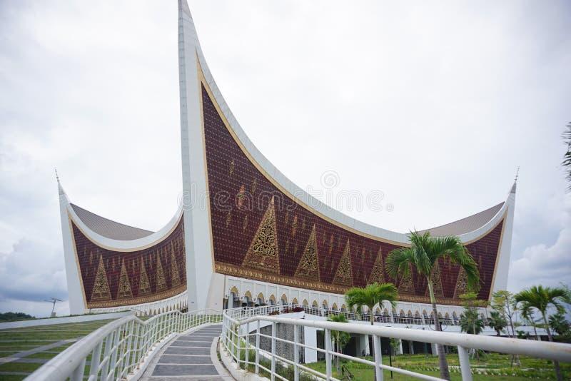 Masjid Raya Sumatera Barat at Padang West Sumatera. Travel, asia, indonesia, destination, vacation, architecture, building, cloudy, sky, ramadan, muslim, art royalty free stock image