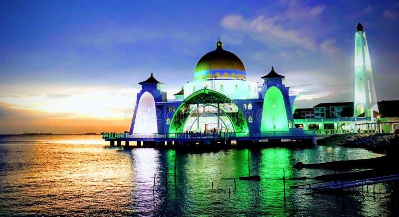 Masjid Selat Malacca images libres de droits