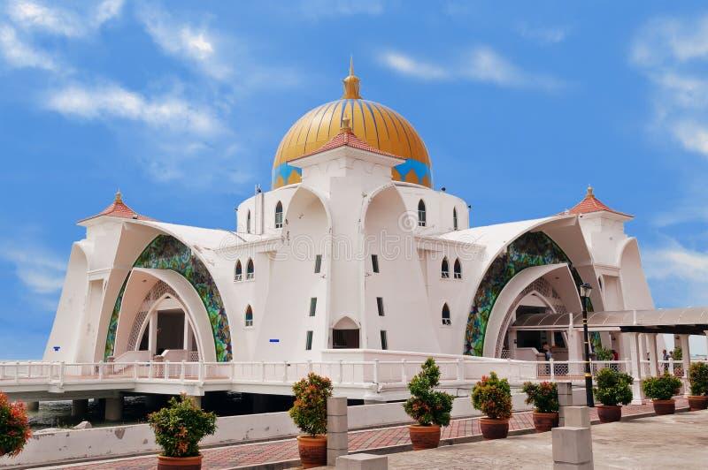 Masjid selat melaka obraz royalty free