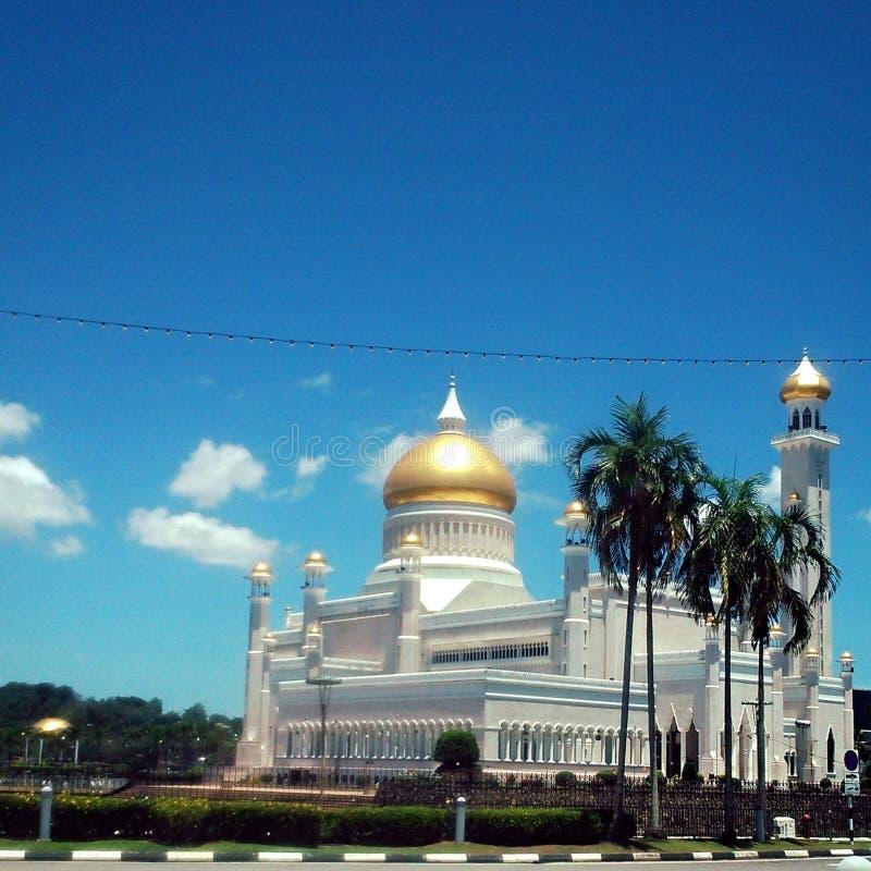 Masjid sułtanu Omar Ali saifudin fotografia stock