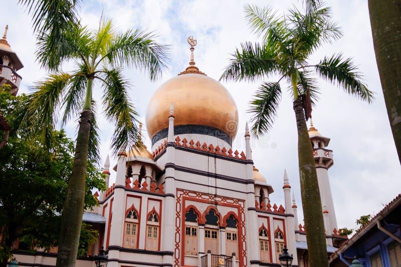 Masjid sultan- eller sultanmoské i KampongGlam, Singapore royaltyfria foton