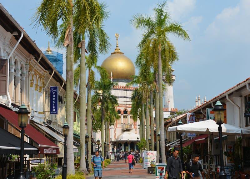 Masjid Sultan Mosque lizenzfreie stockfotos
