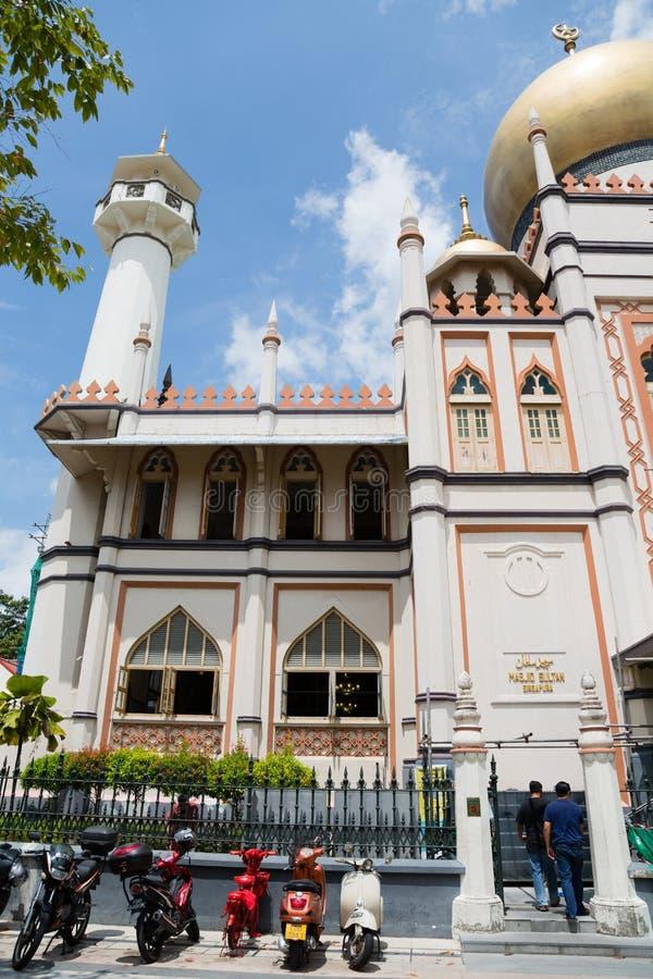 Masjid Sultan Mosque en el encanto del Kampong, Singapur fotos de archivo libres de regalías