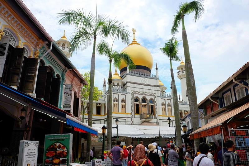 Masjid Sultan Singapore stock image
