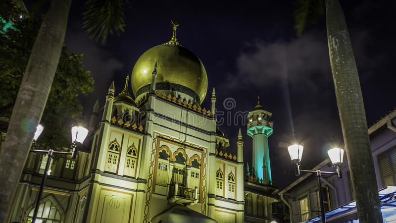 Masjid Sultan in Singapore. Sultan mosque is located at Muscat Street and North Bridge Road within the Kampong Glam district of Rochor Planning Area in Singapore royalty free stock photos
