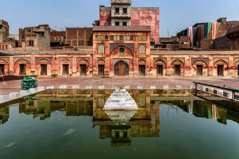 Masjid Wazir Khan Lahore Punjab Pakistan images libres de droits