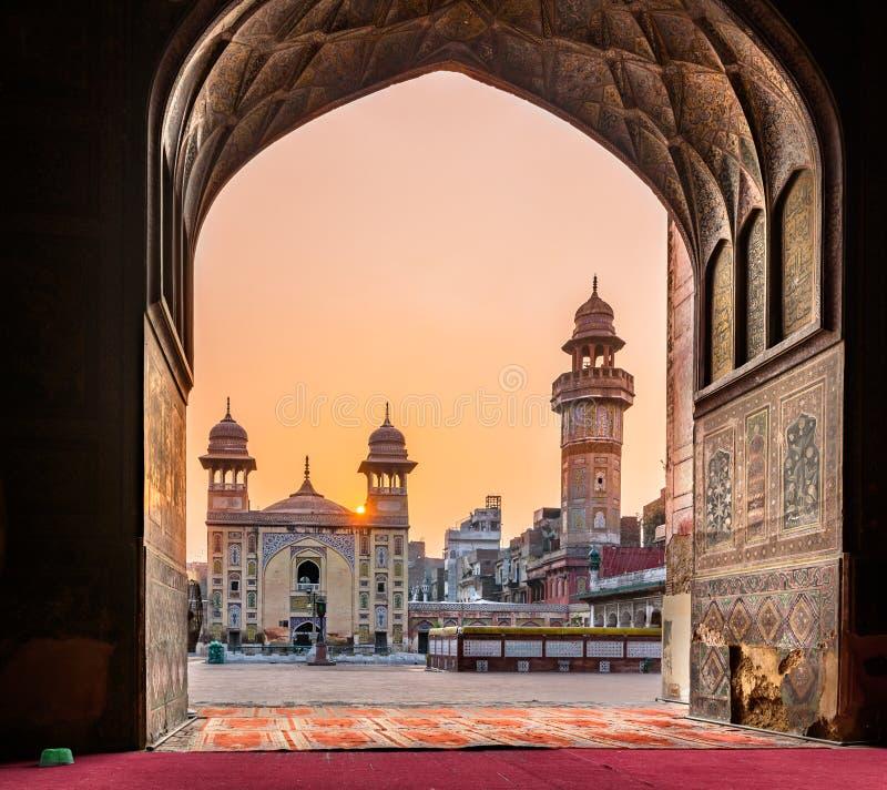 Masjid Wazir Khan Mosque Lahore Pakistan images stock