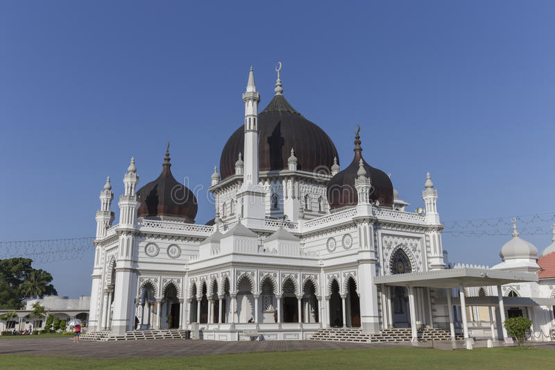 Masjid Zahir in Alor Setar city, Malaysia. The Zahir Mosque is Kedah's state mosque. It is located in the heart of Alor Star, the state capital of Kedah royalty free stock photo