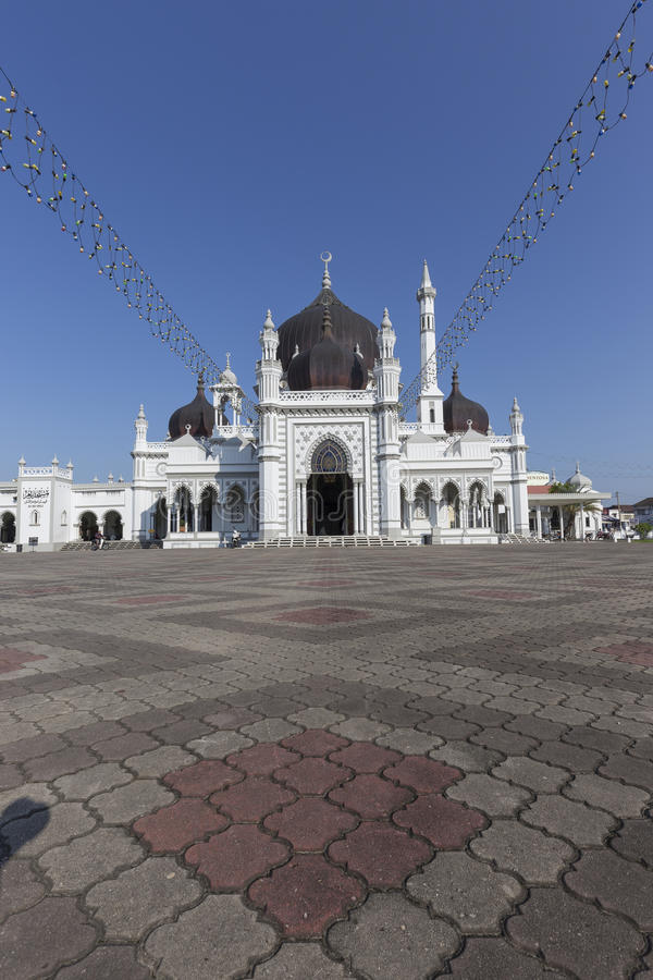 Masjid Zahir in Alor Setar city, Malaysia. The Zahir Mosque is Kedah's state mosque. It is located in the heart of Alor Star, the state capital of Kedah stock photography