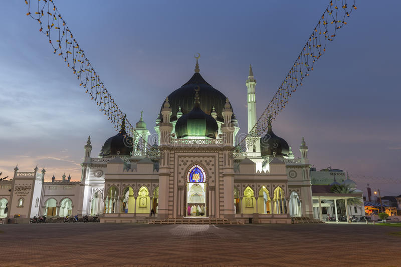 Masjid Zahir in Alor Setar city, Malaysia. The Zahir Mosque is Kedah's state mosque. It is located in the heart of Alor Star, the state capital of Kedah royalty free stock images