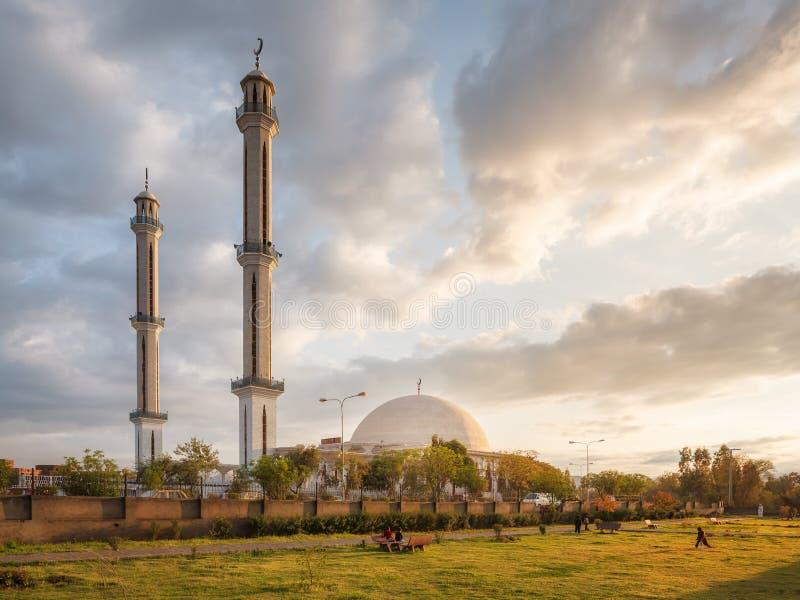Masjid Zarghooni Hayatabad白沙瓦-巴基斯坦 免版税库存图片