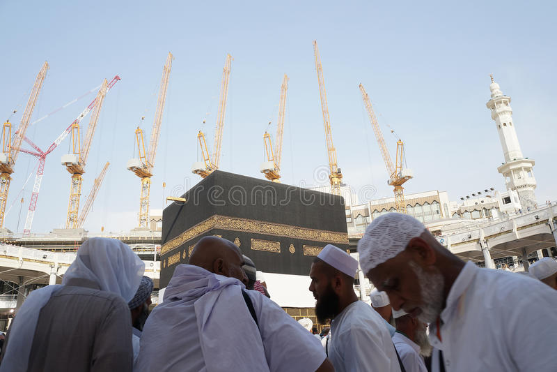 Masjidil建设中的Haram 免版税图库摄影
