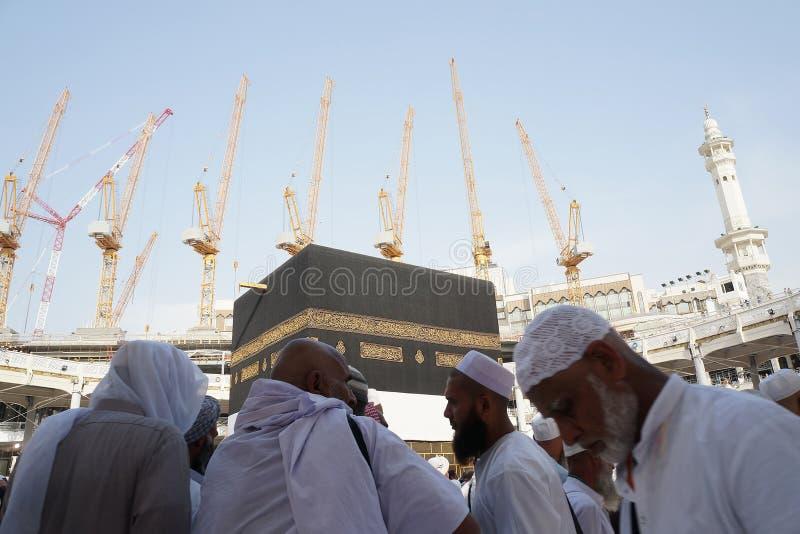 Masjidil Haram sob a construção fotografia de stock royalty free