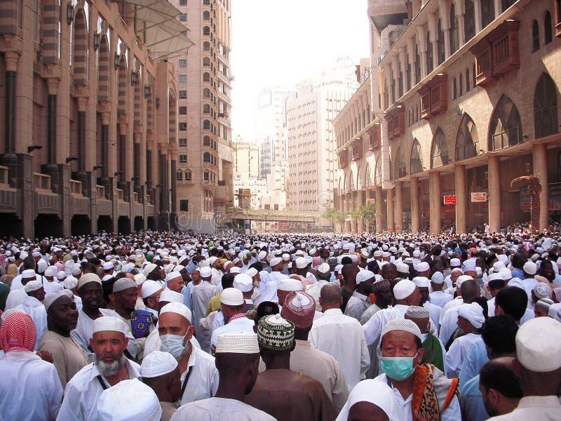 Masjidil Haram während des Hadsch stockbilder