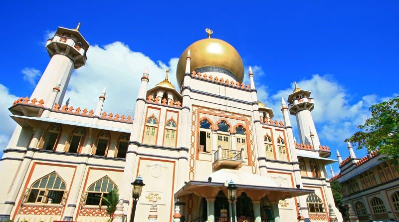 masjidmoskésingapore sultan fotografering för bildbyråer