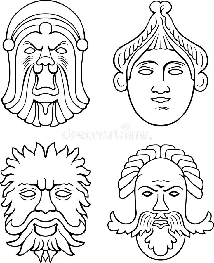 Download Mask stock vector. Image of ancient, mask, history, mystery - 19000965