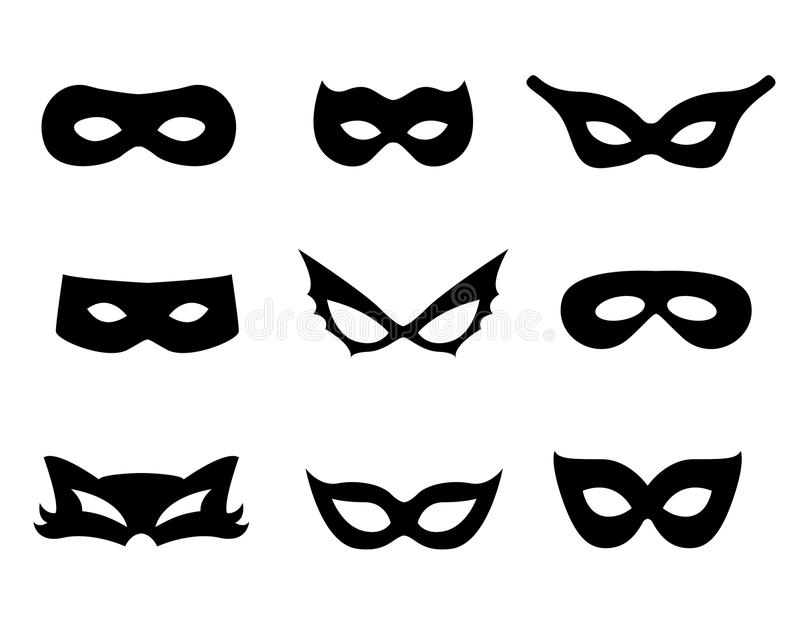 Mask. Collection isolated on white. print cut and wear specially for kids