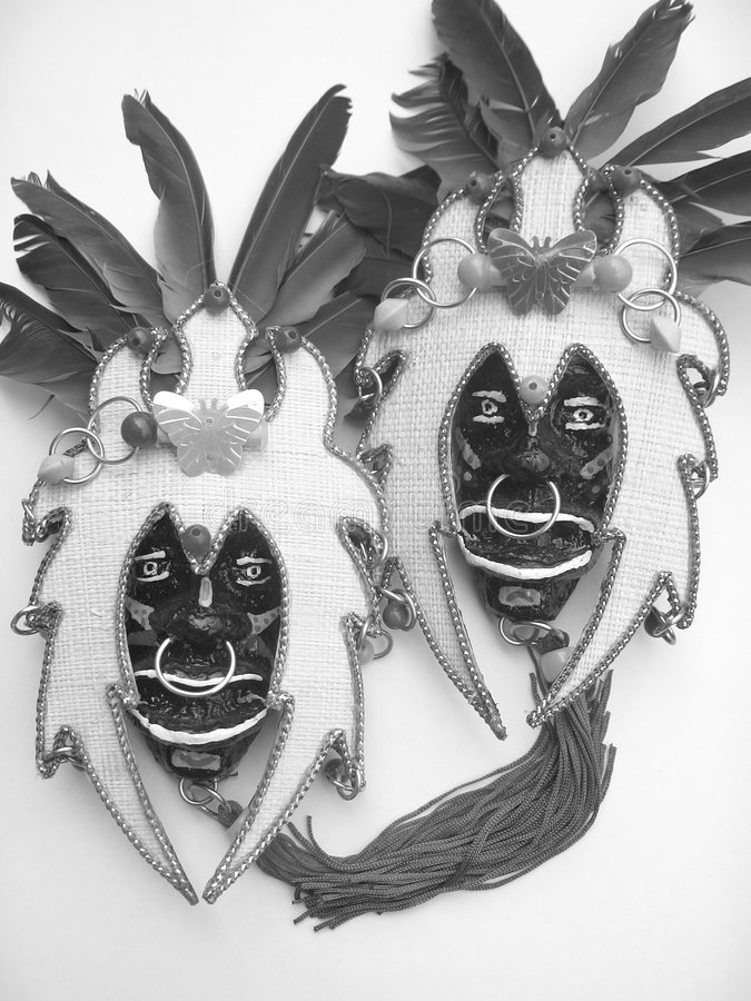 Mask. A traditional mask for Dinagyang Festival in Iloilo City, Philippines stock image