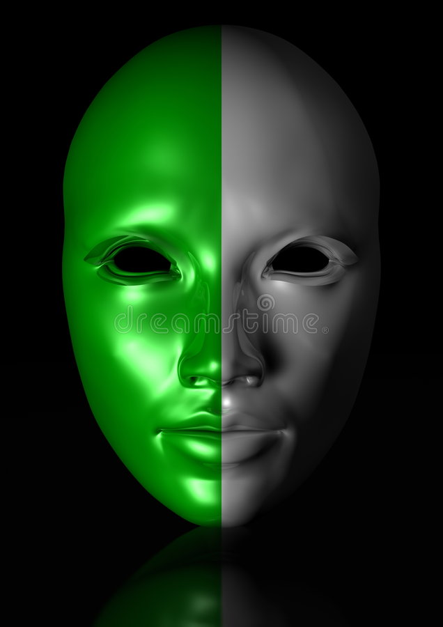 Download Mask stock illustration. Image of makeup, humanoid, reflexion - 8103714