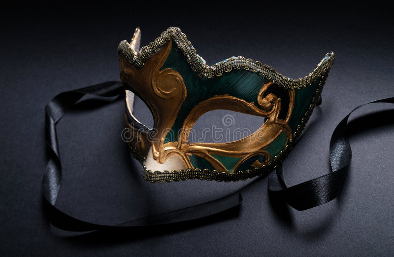 Mask. Venice mask. decorative carnival masque on black