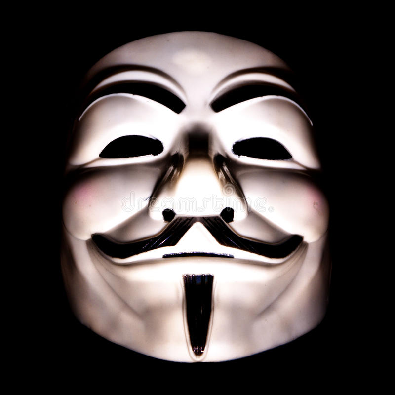 Mask of activists guy fawkes royalty free stock image