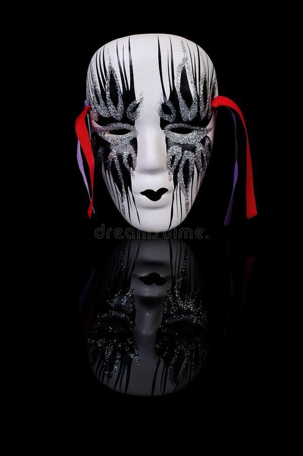 Mask On Black Royalty Free Stock Photos